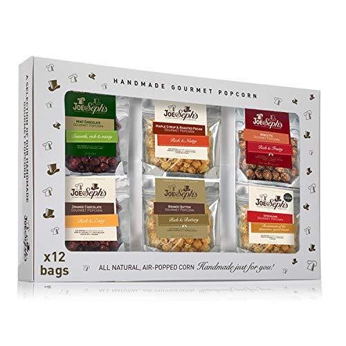 Joe & Seph's Festive Popcorn Tasting Gift Box - 12 x Bags - £15.40 prime / £19.89 nonPrime at Amazon