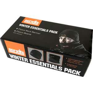 Scruffs Winter Essentials Pack One Size - with fleece hat and neck warmer £6.98 (Free C&C) @ Toolstation