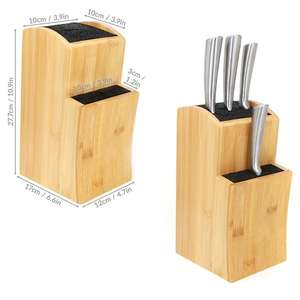 Universal Bamboo Knife Block - £13.49 Delviered Using Code @ Roov
