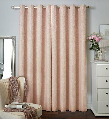 Argos Home Jacquard 117 x 137cm Lined Eyelet Curtains - Blush Pink - £5.75 delivered (UK Mainland) @ Argos / ebay