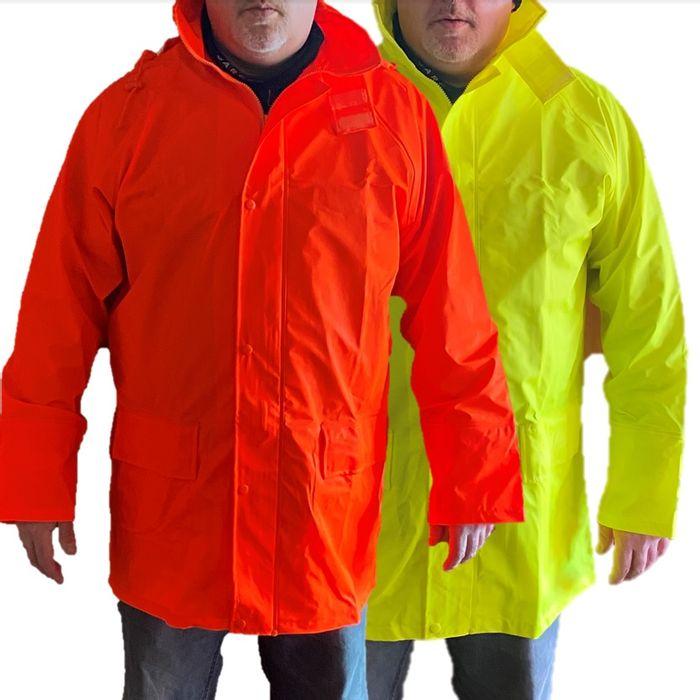 Mens Hi Vis Waterproof Jacket Orange rr Yellow £5.99 @ bigdealoutdoors / eBay