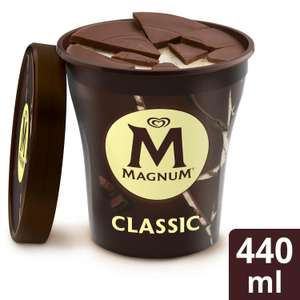 Magnum icecream 440ml various flavours for £2.50 at Sainsburys from Apr 14 (min purchase / delivery fee applies)