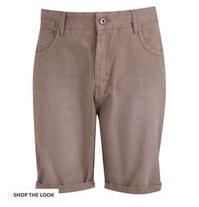 Men's Pink 5 Pocket Shorts (Size S, L or XL) - Now £5 - £1.99 click and collect @ New look