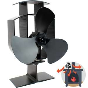 Heat Powered 3 Blade Stove Fan £13.49 delivered with code + 2 Year Warranty @ Roov