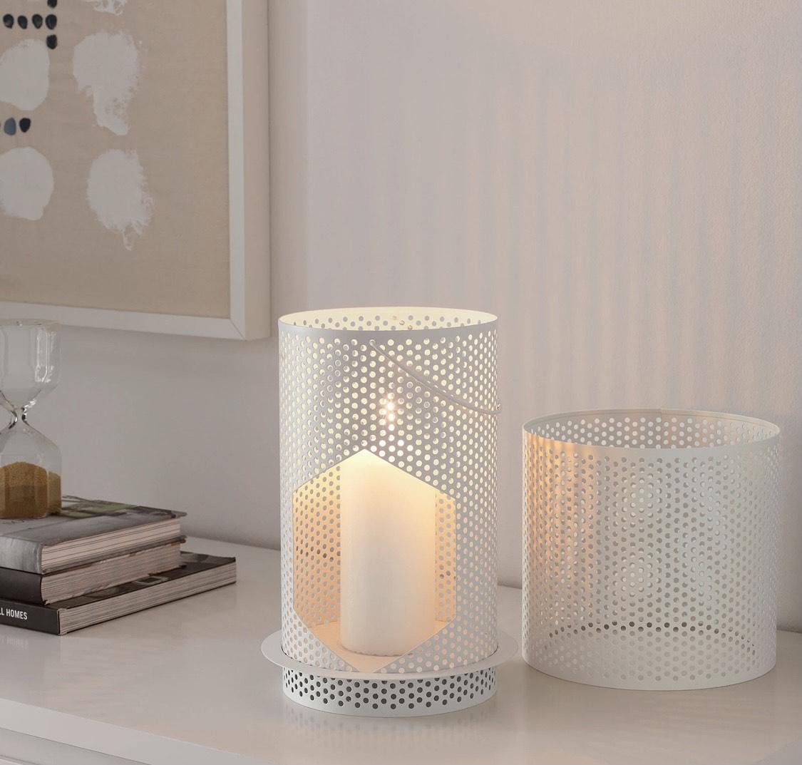 BEHÄRSKA Lantern for block candle, white 26 cm £1 at IKEA Leeds