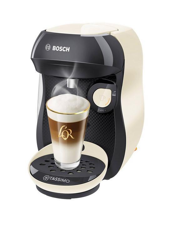 Tassimo TAS1007GB Happy Pod Coffee Machine, Cream - £29.99 + free Click and Collect @ Very