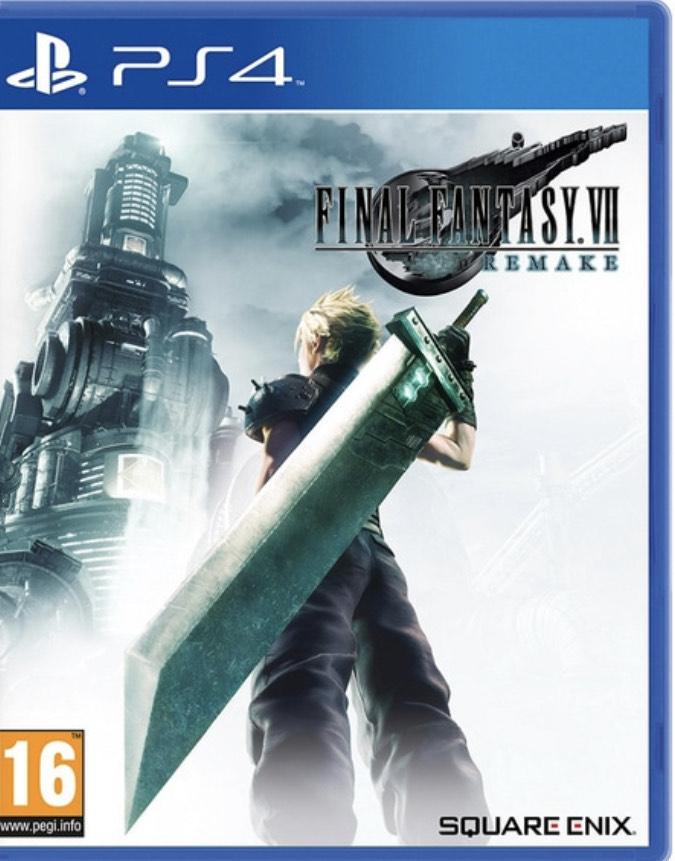 Final Fantasy VII Remake PS4 £29.99 at Smyths Toys