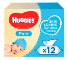 Huggies Pure Baby Wipes 12x56, £6.45 @ Asda