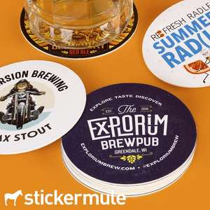 50 Custom Coasters (94mm x 94mm) for £16 Delivered @ Stickermule