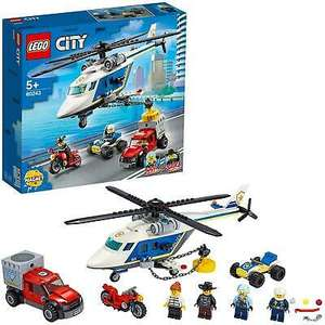 LEGO City 60243 Police Helicopter Chase with ATV, Motorbike, Truck & 4 Mini Figs - £14.95 delivered @ velocityelectronics / ebay