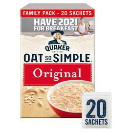 Quaker Oat So Simple Original Family Pack Porridge Sachets 20x27g - £2 @ Iceland