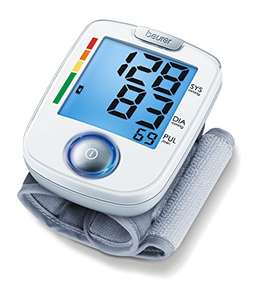 Beurer BC44 Wrist Blood Pressure Monitor Includes Batteries & 3 Year Guarantee - £14.30 (+£4.49 Non Prime) @ Amazon