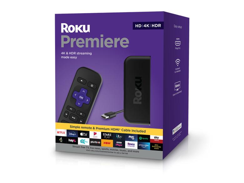 Roku Premiere HD/4K/HDR Streaming Media Player £25 @ B&M Lakeside Thurrock