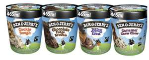 Ben & Jerry 465ml ice cream 4 different flavours - 2 for £5 @ Farmfoods