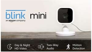 Blink Mini | Compact indoor plug-in smart security camera £14.99 with code (Account-specific) (UK Mainland) Sold by Amazon EU @ Amazon