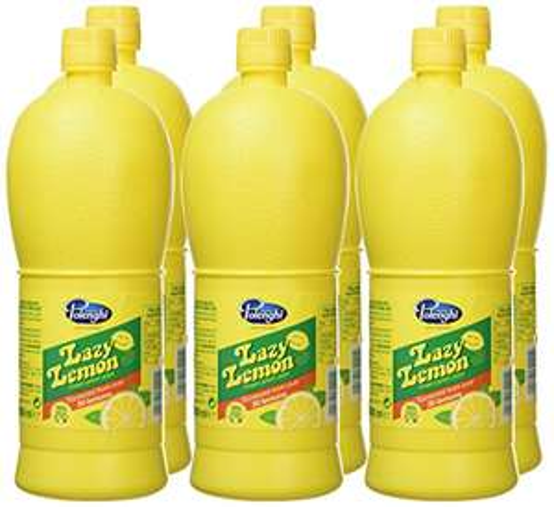 Lazy Lemon Juice 1 Litre (Pack of 6) - £7.47 Prime/£7.10 S&S (+£4.49 Non Prime) @ Amazon