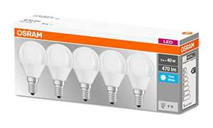 Osram LED Base Classic E14 Cool White Bulbs (Pack of 5) - £1.42 (+£4.49 NP) Delivered @ Amazon