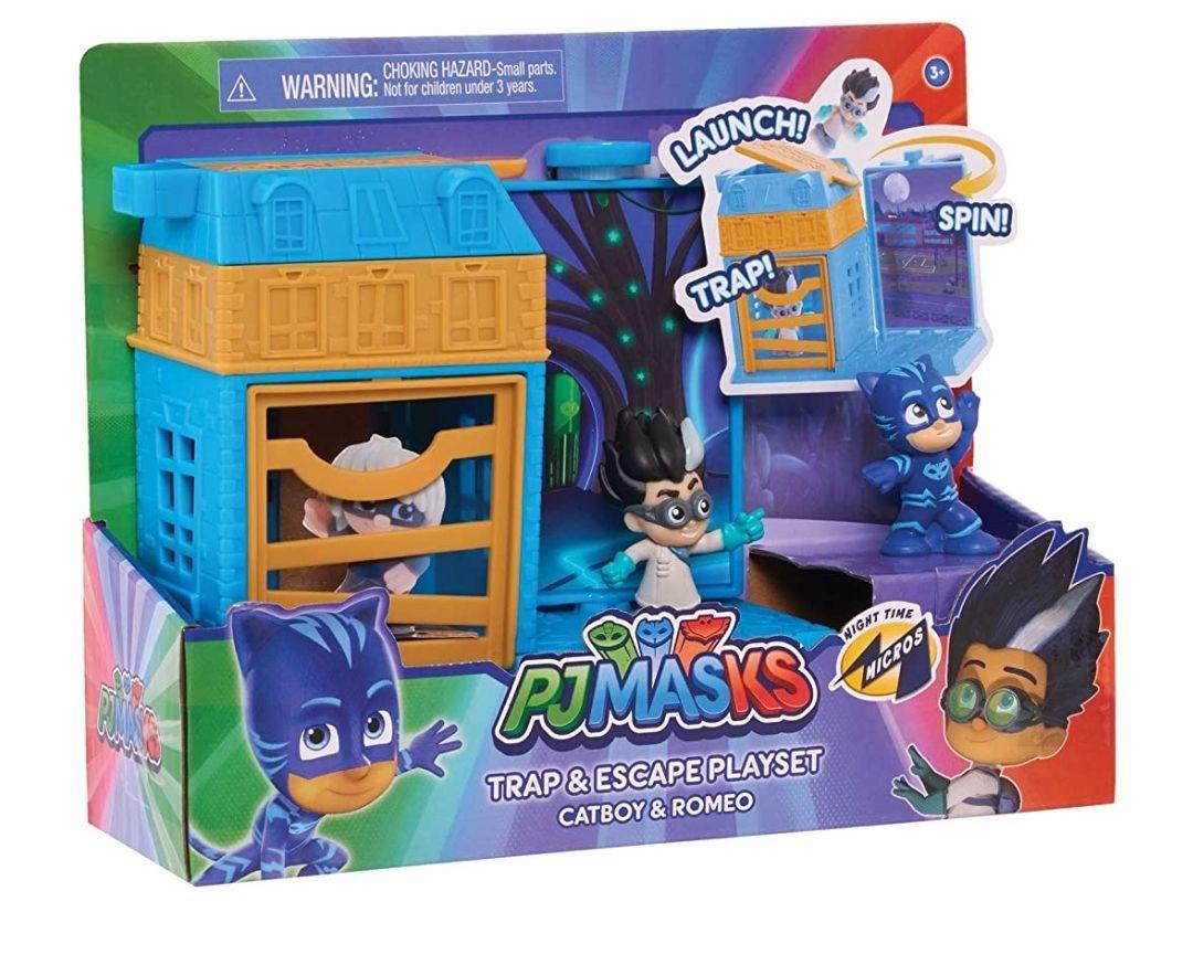 PJ MASKS JP PJMA7210 Night Time Micros Trap & Escape Playset-Catboy & Romeo £6.76 prime / £11.25 nonPrime @ Amazon
