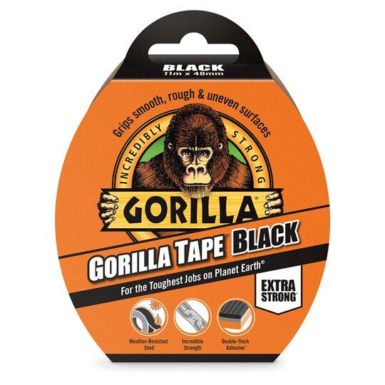 Gorilla Tape Black 11M - £3.25 / Gorilla Glue Clear 50Ml £4 @ Tesco