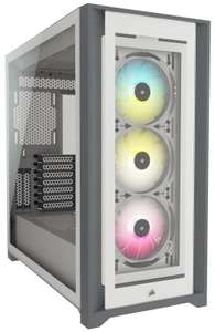 CORSAIR iCUE 5000X RGB Tempered Glass Mid-Tower ATX PC Smart Case White £146.73 delivered at Ebuyer