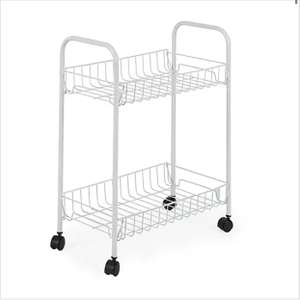 White 2 Tier Trolley (Free Click & Collect) - £3.50 @ Dunelm