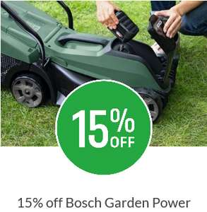 15% off - Bosch Garden Power tools e.g Bosch EasyGrassCut 23 Electric Grass Trimmer 23cm £24.65 free click and collect