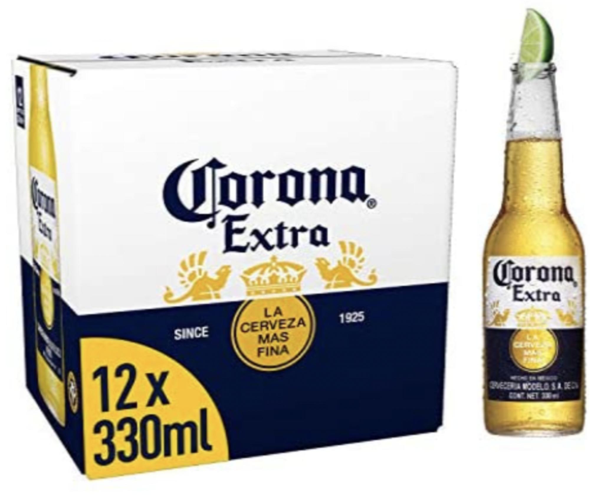 Corona Extra Premium Lager Beer Bottles 12x330ml £9 @ Asda