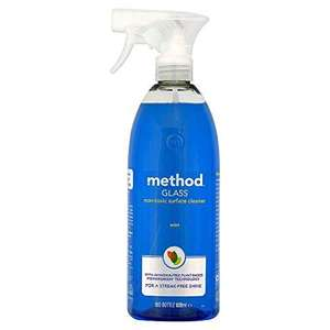 Method Glass Cleaner Spray, Mint, 828 ml - £2 delivered / (+£4.49 Non Prime) @ Amazon