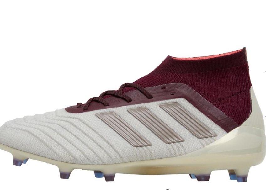 adidas Womens Predator 18.1 FG Football Boots Talc/Vapour Grey Metallic /Maroon £19.99 + £4.99 del at MandM Direct