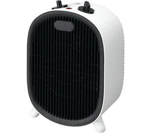 ESSENTIALS C20FHW20 Fan Heater, Black & White - £7.99 delivered @ Currys PC World