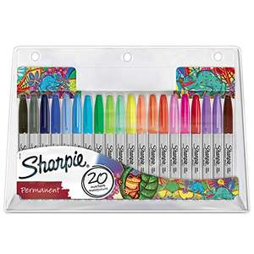 Sharpie Permanent Marker Set   Exclusive Colour Assortment   Fine Point   20 Count £10.90 prime / £15.39 non prime @ Amazon