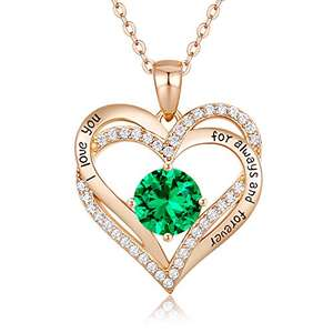 CDE Forever Love Heart Birthstone Necklaces Jewellery for Women 925 Sterling Silver £49.99 Sold by CDE Jewellery-EU and Fulfilled by Amazon