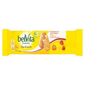 Belvita Duo Crunch Strawberry and Live Yogurt Breakfast Biscuits 50.6 g (Pack of 18) - £5.40 Prime (+£4.49 NP) @ Amazon