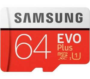 64GB SAMSUNG Evo Plus Class 10 microSD Memory Card - £6.97 at Currys on eBay