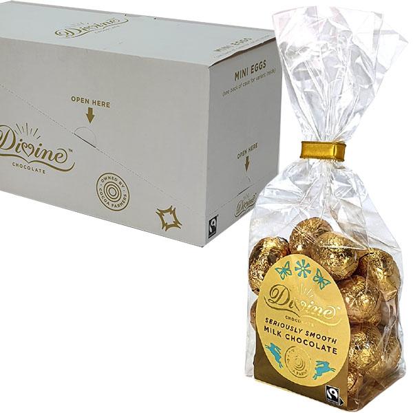 12x Divine Fairtrade Milk Chocolate Mini Eggs 152G Giftbags - £15 delivered at Yankee Bundles