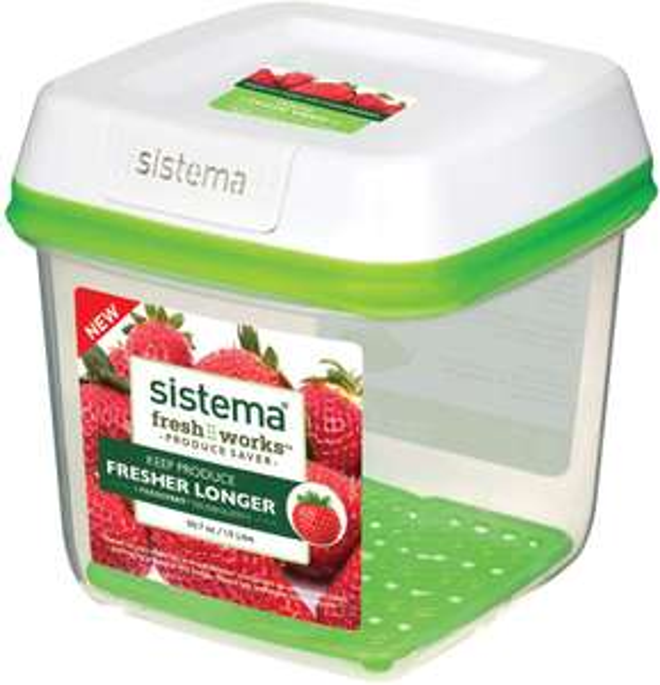 Sistema FreshWorks Medium Square Storage Container 1.5 L - £4.50 Prime / +£4.49 non Prime @ Amazon