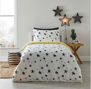 Stars Reversible Duvet Cover and Pillowcase Set - Cot Bed £7 / Single £8 / Double £10 - Free C&C or £3.95 delivery @ Dunelm