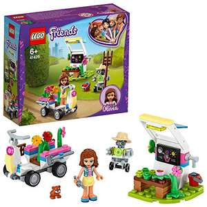 LEGO 41425 Friends Olivia's Flower Garden Play Set with Tools, Zobo the Robot & Toy Go Kart £6 (+£4.49 Non Prime) @ Amazom