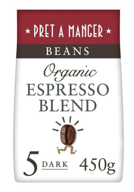 Pret A Manger Whole Beans Organic Espresso Blend 450g - £3 @ Sainsbury's