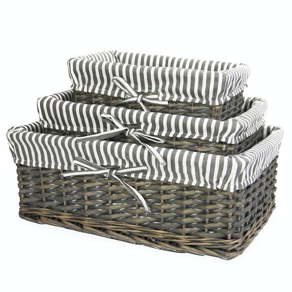 Grey Wicker Basket - £16.94 Delivered @ Room
