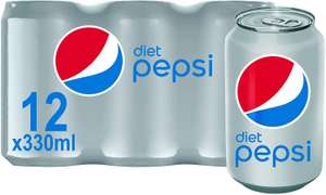 12 x 330ml Diet Pepsi or Pepsi Max £4 prime / £8.49 nonPrime / £2.80 with 20% voucher and S&S @ Amazon