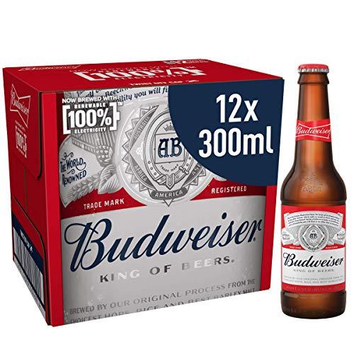 Budweiser Lager Beer Bottle, 12 x 300 ml £6.99 + £4.49 Non Prime @ Amazon