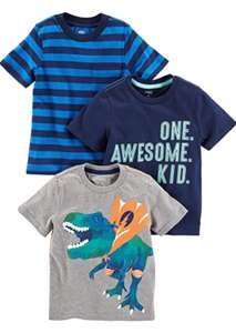 Boy's 3 pack of t shirts size 4 years now £6.65 Prime with code / £7.39 + £4.49 nonPrime sold by Amazon