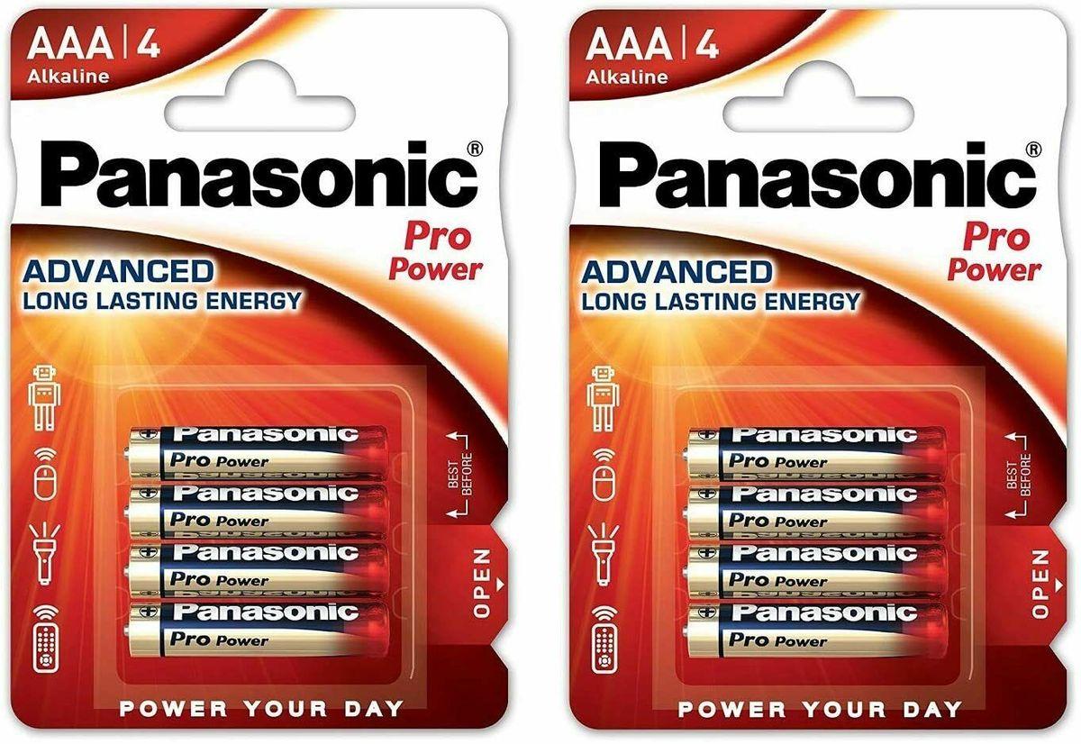 Panasonic AAA batteries 8 pack - £2.88 with code @ StockMustGo