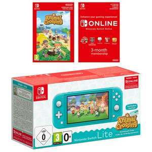 Nintendo Switch Lite - (Turquoise / Coral) + Animal Crossing + 3 Month Membership Bundle - £194.85 Delivered @ Shopto