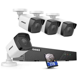 ANNKE H500 8CH Bullet POE CCTV 2TB Camera System - 4x 5MP Security IP Cameras - £284.99 With Code - Sold by Smart Home Brand Store / Amazon.