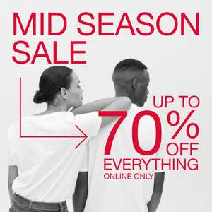 Up to 70% Off Midseason Sale + an extra 30% or an extra 50% Off applied in basket on lots of items +Free click & collect / £4 delivery @ GAP