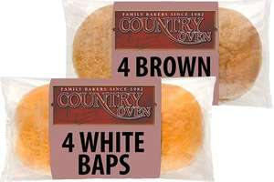 Country Oven Giant White Baps 4 Pack - 2 for £1 @ Farmfoods