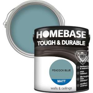 Buy More Save More on 2.5L Homebase Durable and Kitchen & Bathroom Coloured Emulsion - 2 for £26 or 3 for £36 click & collect @ Homebase