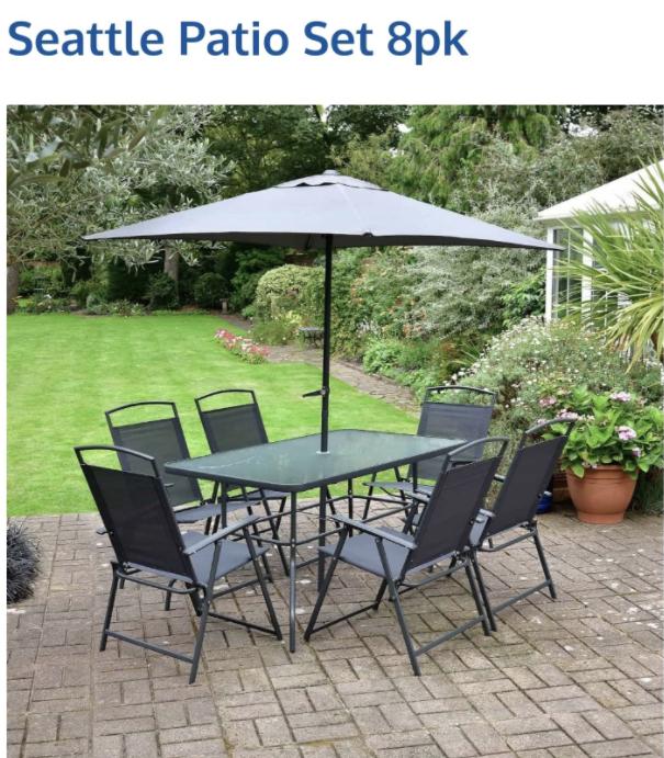 Seattle patio set £120 Alyesbury B&M
